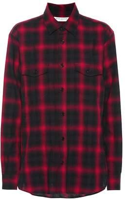 Saint Laurent Plaid cotton shirt