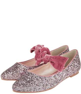 Monsoon Girls Storm Glenda Glitter Almond Toe Shoe