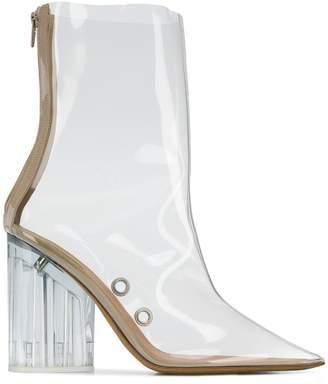 Yeezy block heel ankle boots