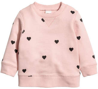 H&M Cotton Sweatshirt - Pink