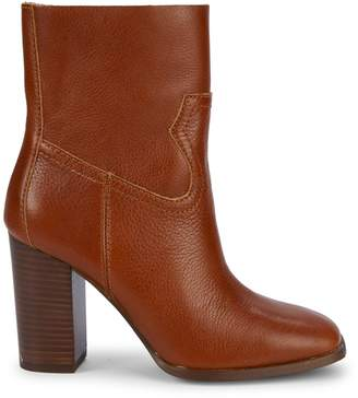 Splendid Nero Square-Toe Leather Ankle Boots