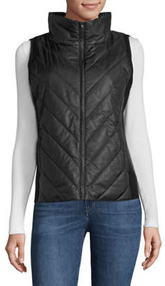 Eileen Fisher Recycled High Collar Vest