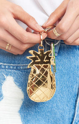 Show Me Your Mumu Pineapple Keychain ~ Gold