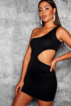 boohoo Thick Strap Cut Out Bodycon Dress