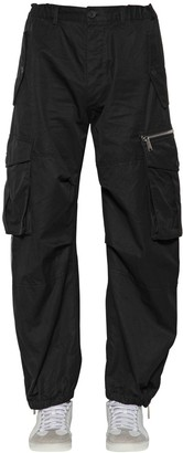 DSQUARED2 22cm Combat Cotton Twill Cargo Pants