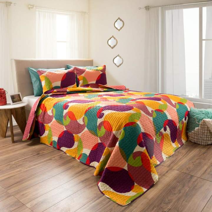 Trademark Global Lavish Home 2-piece Evelyn Reversible Quilt Set - Full/Queen