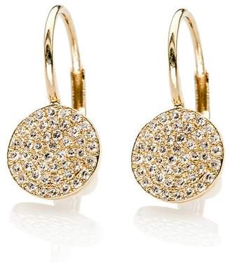Ef Collection 14K Yellow Gold Diamond Disc Earrings - 0.37 ctw