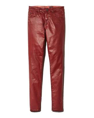 AG Jeans Farrah Ankle Skinny Jeans in Tannic Red