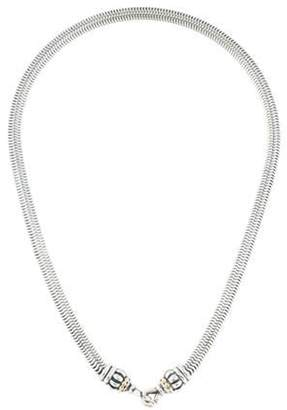 Lagos Two-Tone Snake Link Chain Necklace silver Two-Tone Snake Link Chain Necklace