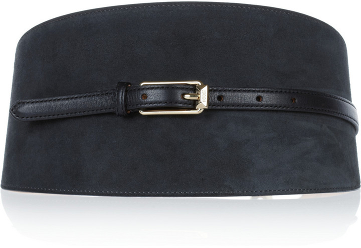 Emilio Pucci Wide suede and leather waist belt