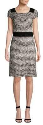 St. John Inlaid Eyelash Knit Sheath Dress