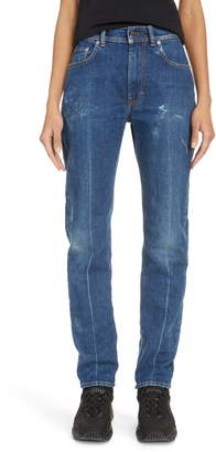 Acne Studios Melk Creased High Waist Slim Crop Jeans