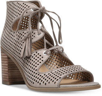 Franco Sarto Honolulu Block-Heel Lace-Up Sandals Women's Shoes $119 thestylecure.com