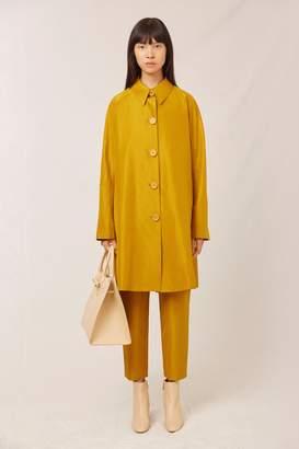 Mansur Gavriel Taffeta Elegant Coat - Mustard