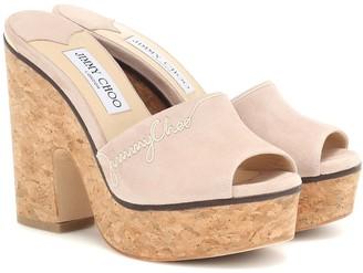 Jimmy Choo Deedee 125 suede sandals