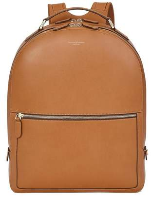 Aspinal of London Large Mount Street Backpack In Smooth Tan