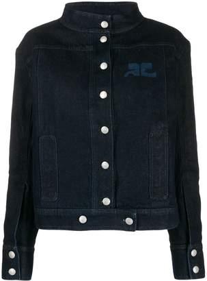 Courreges printed logo denim jacket