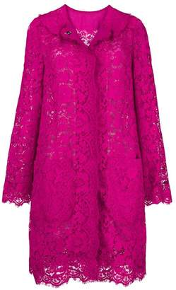 Dolce & Gabbana lace-embroidered coat