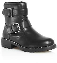 Steve Madden Girls' Faux-Leather Moto Booties - Little Kid, Big Kid