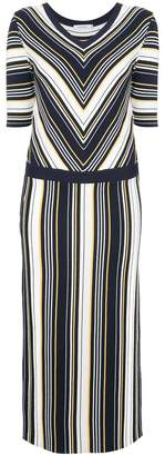 GUILD PRIME striped shift midi dress