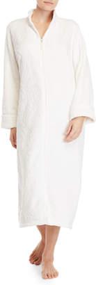 Carole Hochman Swirl Zip Plush Long Robe