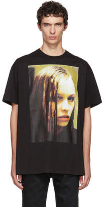 Raf Simons Black Christiane F. Wet Hair T-Shirt
