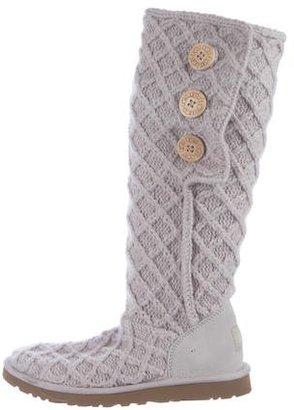 UGG Australia Lattice Cardy Knit Boots $75 thestylecure.com