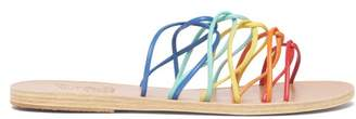 Ancient Greek Sandals Rodopi Rainbow Strap Leather Sandals - Womens - Multi