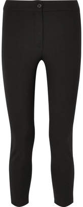 Ann Demeulemeester Cropped Stretch-wool Slim-leg Pants - Black