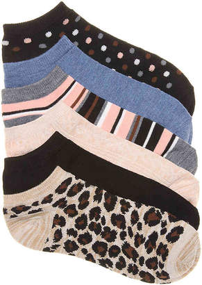 Kelly & Katie Leopard No Show Socks - 6 Pack - Women's