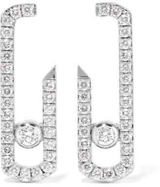 Möve Messika Addiction 18-karat White Gold Diamond Earrings
