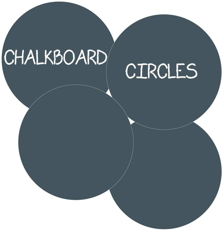 Wall Candy Arts WallCandy Arts Chalkboard Circles - Black