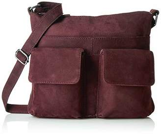 Tresori Women's Real Leather Cross over Bag with Front Pockets