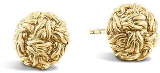 John Hardy Classic Chain 18K Yellow Gold Stud Earrings