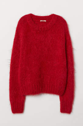 H&M Knit Wool-blend Sweater - Red