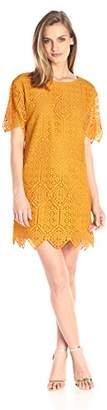 Juicy Couture Black Label Women's Menara Lace Short Sleeve Dress $106 thestylecure.com