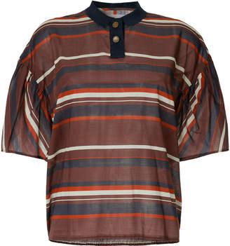 Kolor ボーダー ポロシャツ