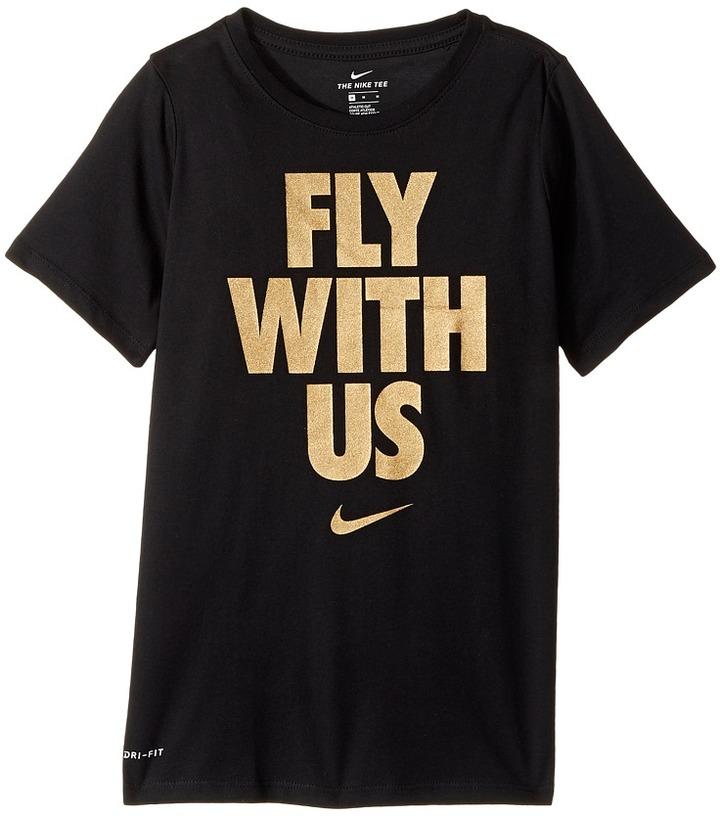 Nike Kids Dry Fly With Us Short Sleeve Tee (Little Kids/Big Kids)