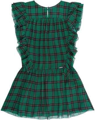 Burberry Frill Check Dress
