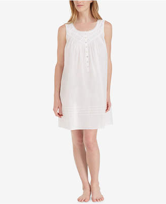 8c717200e4 Eileen West Cotton Lace-Trim Short Nightgown