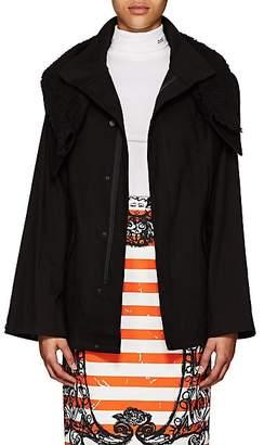 Yohji Yamamoto Regulation Women's Sherpa-Trimmed Cotton Canvas Jacket - Black