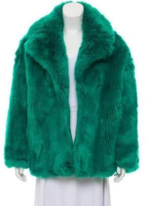 Diane von Furstenberg Faux Fur Collared Jacket w/ Tags