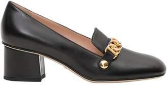 Gucci Sylvie Leather Mid-heel Pump