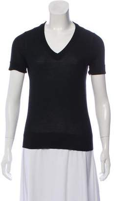 Derek Lam Short Sleeve Cashmere Top