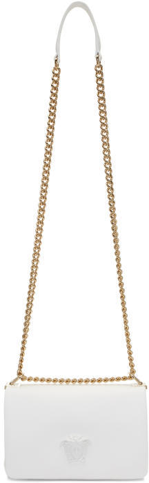 Versace White Medusa Sultan Chain Bag