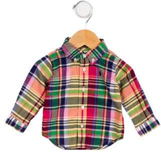 Ralph Lauren Boys' Plaid Long Sleeve Shirt