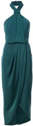 Shona Joy halterneck wrap detail dress