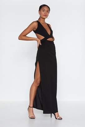 Nasty Gal Cut Corners Cut-Out Maxi Dress