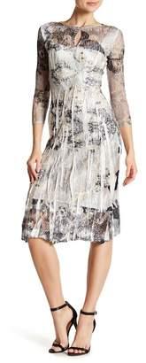 Komarov 3/4 Sleeve Print Dress