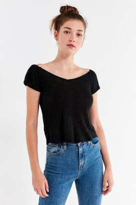 Urban Outfitters Sonya Off-The-Shoulder Flutter Sleeve Tee